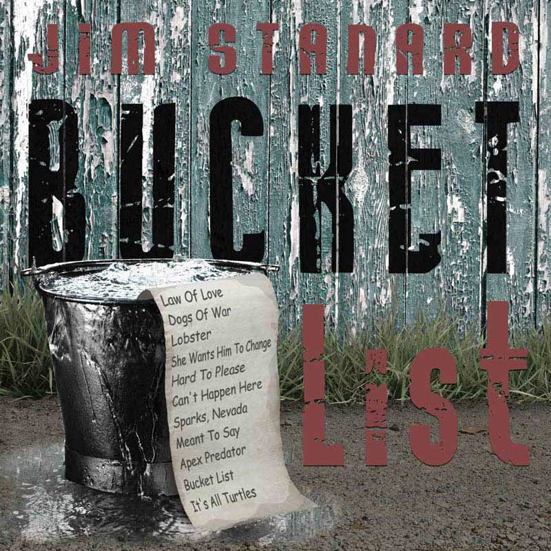 CD cover of 'Bucket List' by Jim Stanard